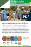 Effectiveness Review: Livestock Commercialisation for Pastoralist Communities in North Dakoro, Niger