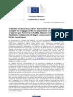 Commission européenne entente sur les ebooks