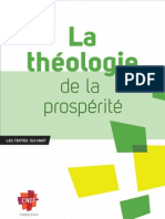 """Dossier du CNEF sur la fausse doctrine appelée """" Théologie de la prospérité."""""""