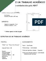 Estrutura de Trabalhos Acadêmicos - ABNT - NBR - 10520 de 2002