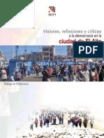 Visiones, reflexiones y critícas a la democracia en El Alto