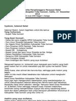 Laporan Panitia Penyelanggara Disdik 2012