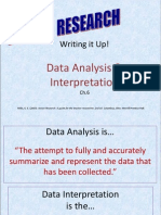 Write Up- Data Analysis & Interpretation