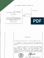Resolución del Tribunal Supremo (Moción de Reconsideración)