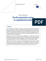 The EU Automotive Sector in a Globalised Market