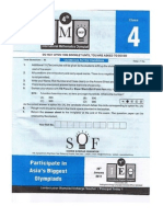 International Olympiad for Mathematics sample paper