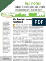 Un budget européen renforcé