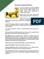 Limun - Sve Zdravstvene Blagodeti Limuna