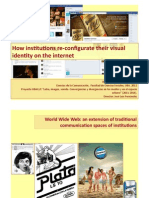 How institutions re-‐configurate their visual identity on the internet.