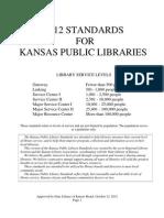 2012 Kansas Public Library Standards