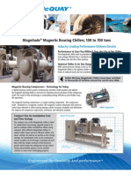 Two-page summary brochure of the Daikin McQuay Magnitude® magnetic bearing chiller