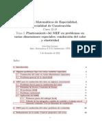 Planteamiento del MEF en problemas en varias dimensiones espaciales