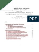 Aproximacion e Interpolacion. Funciones de Forma Para Algunos Espacios de Elementos Finitos