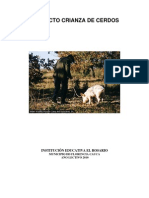 Proyecto Crianza de Cerdos en La Institucion Educativa El Rosario