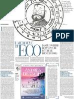 Scritti Sul Pensiero Medievale Di Umberto Eco - La Repubblica 13.12.2012