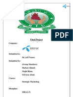 MBA project report on Telenor Pakistan