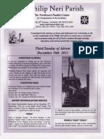 Bulleting for December 16-2012