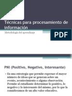 Técnicas para procesamiento de información