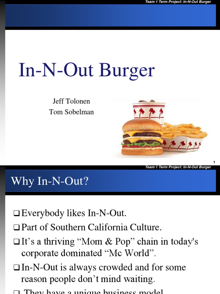 in and out burger | Hamburgers | Fast Food