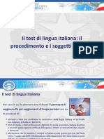 0827 Il Test Di Lingua Italiana Il Procedimento e i Soggetti Coinvolti