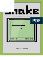 Snake Game In C | Life Cycle Assessment | Software Development