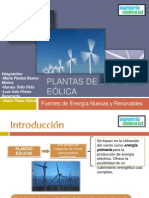 Plantas de Energía Eólica