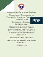 Toalombo Flavio Multimedia III