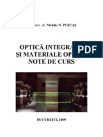 Optica integrata si materiale optice