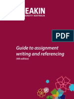 Guide to Assignment Writing and Referencing