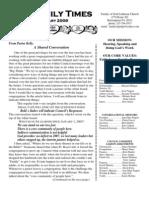 February 2009 Newsletter