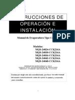 Manual de equipos de aire acondicionado tipo cassete