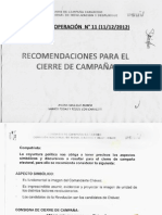 Documento Confidencial del cierre de campaña del PSUV
