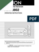 Denon AVR-3802 User Guide