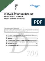 Mitsubishi D700 Installation Guide