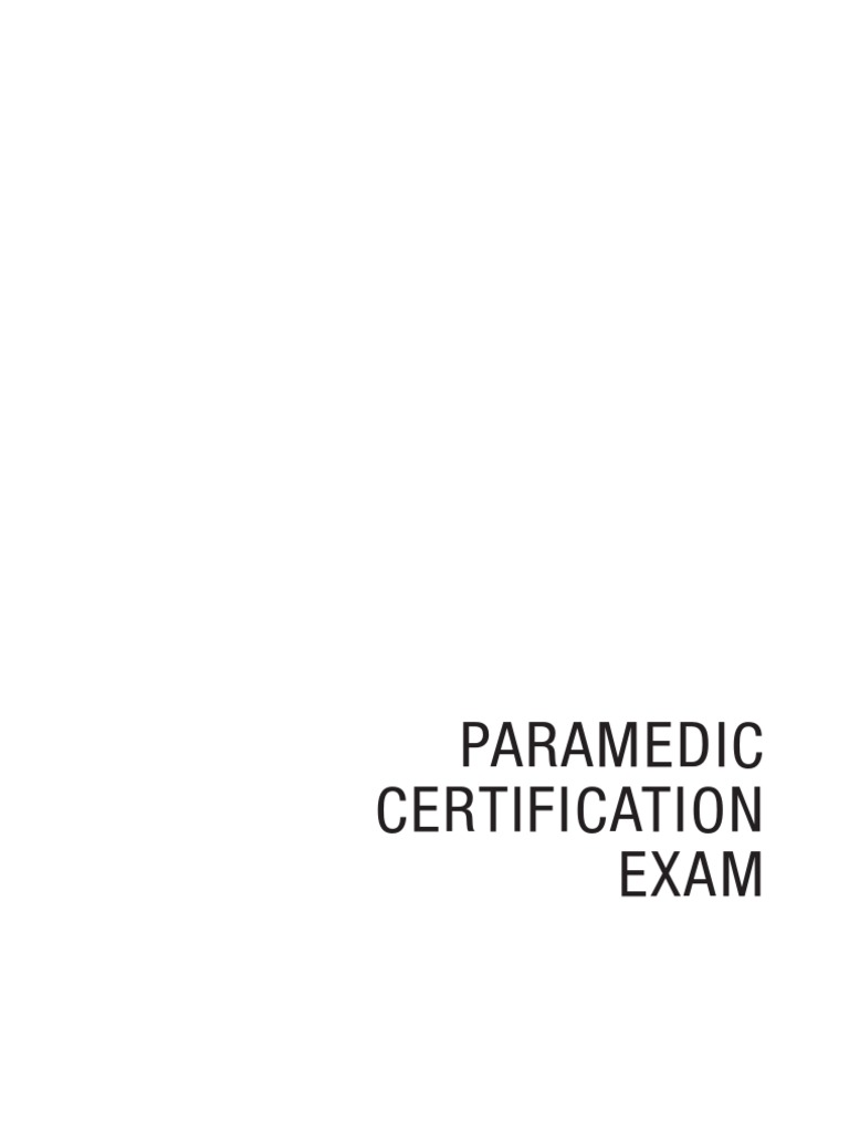 Paramedic certification exam 4th edition emergency medical paramedic certification exam 4th edition emergency medical technician emergency medical services 1betcityfo Images