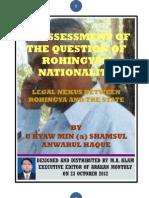 ARAKAN Question of Rohingya's Nationality