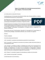 Protocolo sobre los Privilegios e Inmunidades de la Autoridad Internacional de los fondos. Kingston, 27 de marzo de 1998