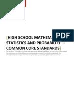 High School Statistics and Probability