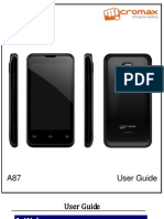 micromax a87 user manual