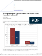 'Welfare Spending Equates to $168 Per Day for Every Household i