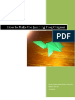 Jumping Origami Frog