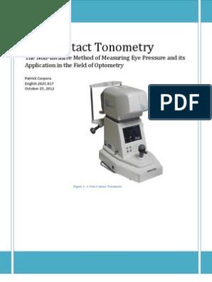 Non-Contact Tonometry | Glaucoma | Optometry