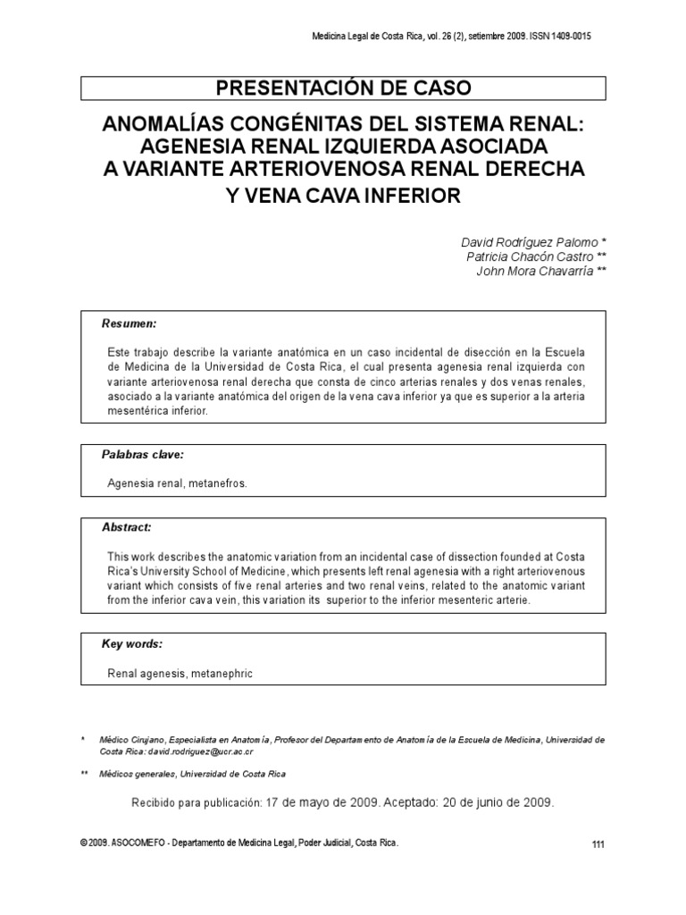 Agenesia Renal Unilateral