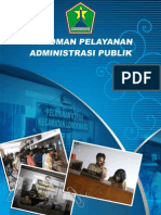 Buku Pedoman Pelayanan Administrasi Publik
