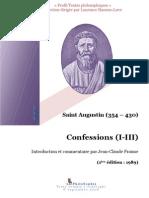 Saint Augustin Confessions I à III