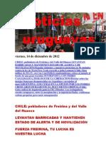 Noticias Uruguayas Viernes 14 de Diciembre Del 2012