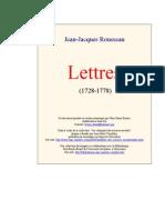 Rousseau - Lettres [1728-1778]