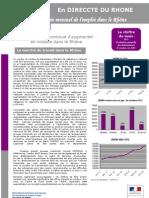 Bulletin mensuel de l'emploi dans le Rhône