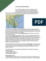 Sejarah Perkembangan Dan Asal Usul Bahasa Melayu