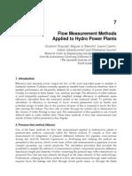 InTech-Flow Measurement Methods Applied to Hydro Power Plants